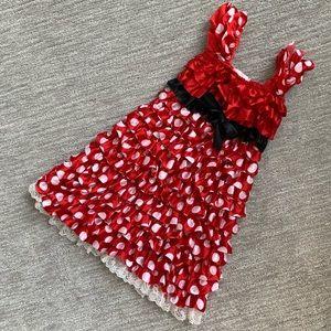 Disney Minnie Mouse polka dot ruffle dress size XS